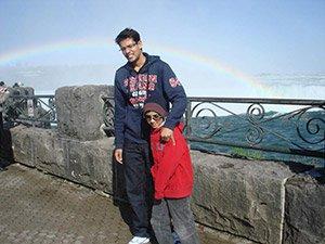zain-niagra-falls-rainbow