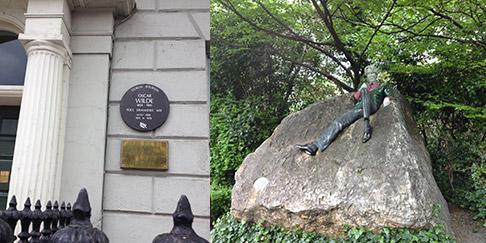 oscar-wilde-house-and-statue-dublin