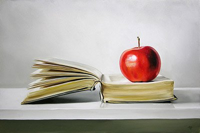 apple-on-open-book