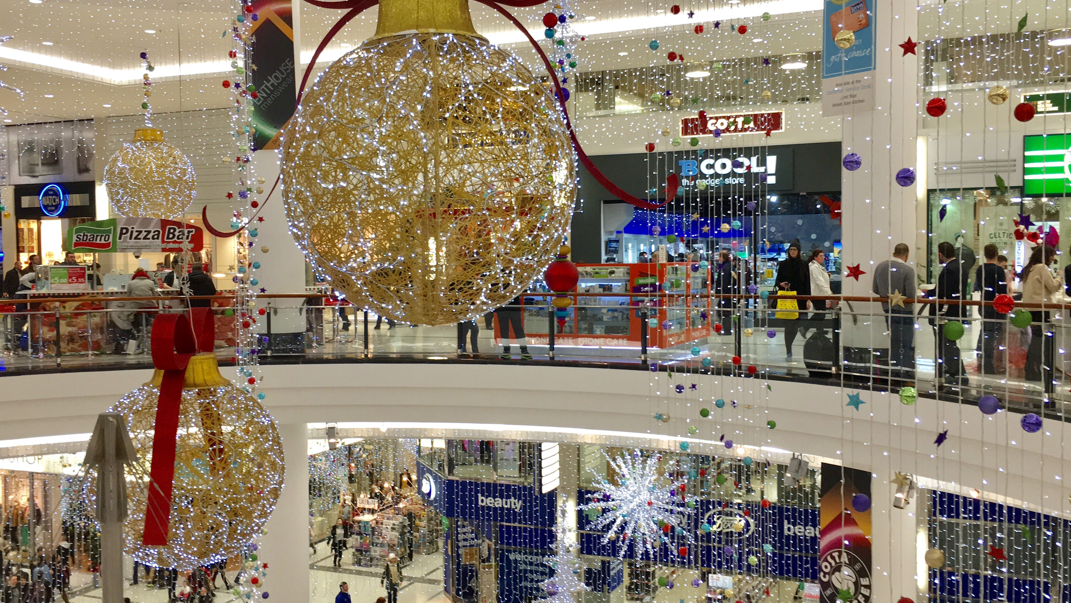 Christmas Decorations Jervis Shopping centre