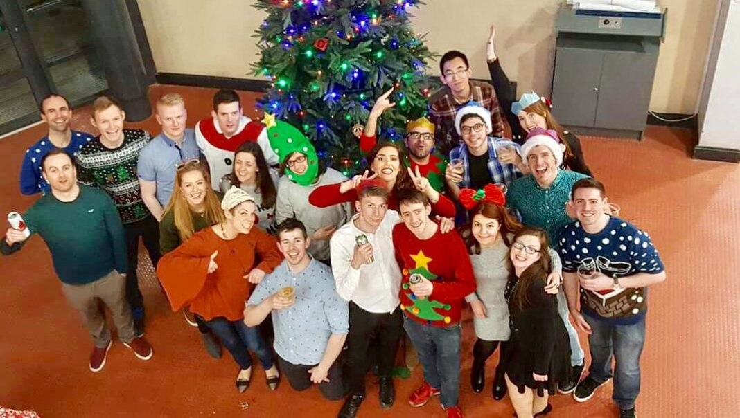 Christmas party at the Biology Department Maynooth University
