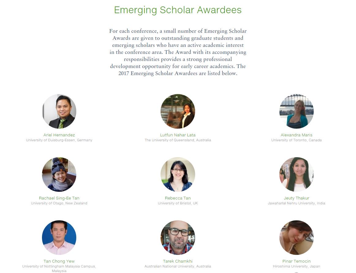 Emerging Scholar global research NUS