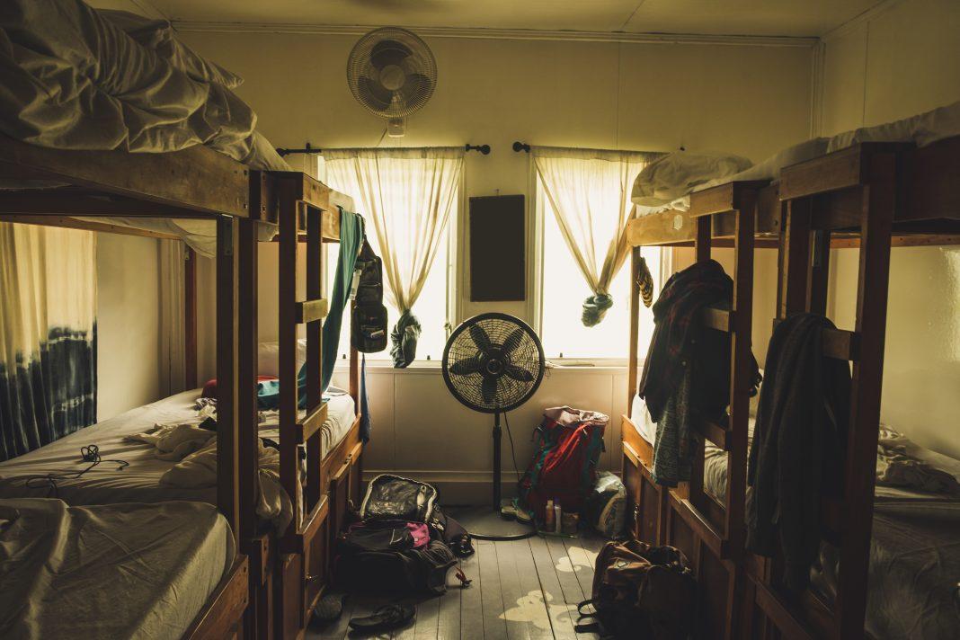 Dorm room at college
