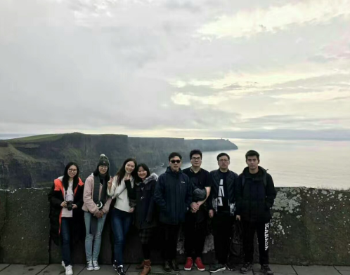 Chinese students from Maynooth University visiting the Cliffs of Moher
