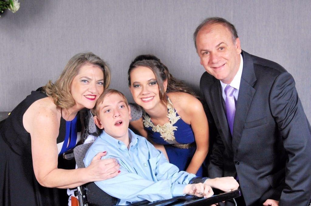 family graduation photo